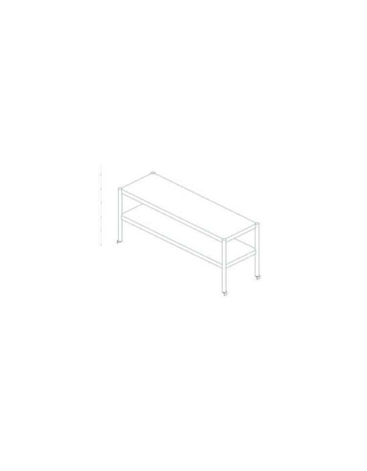 Sovrastruttura inox a 2 piani per appoggio su tavoli cm for 2500 piani quadrati di 2 piani