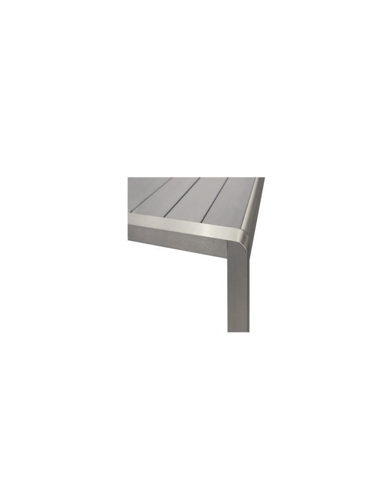 Tavolo quadrato cm 80x80 bar alluminio impilabile doppia gamba tavoli linea alluminio - Tavoli in alluminio per esterni ...