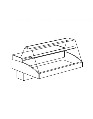 Vetrina refrigerata da appoggio Self Service mm 1972x939x296h