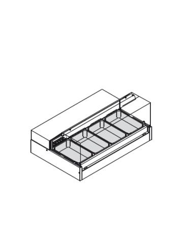 Vetrina riscaldata per gastronomia vetro diritto, capienza 4 GN 1/1 o 8 GN 1/2. mm 1394x960x615h