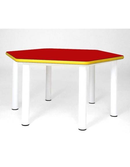 Tavolino esagonale tavolini esagonali banchi e tavoli for Arredamento asilo nido usato