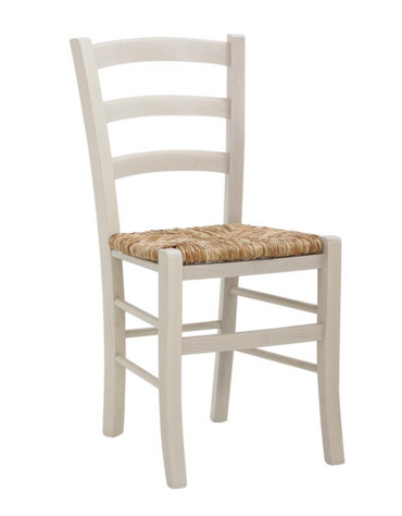 SEDIA  Struttura in legno, seduta impagliata cm 40x37x87h