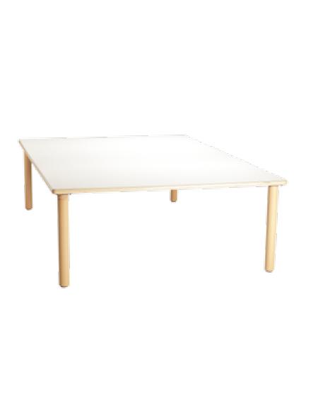 Tavolo quadrato grande piano latte in legno cm 128x128x76h for Tavolo quadrato grande