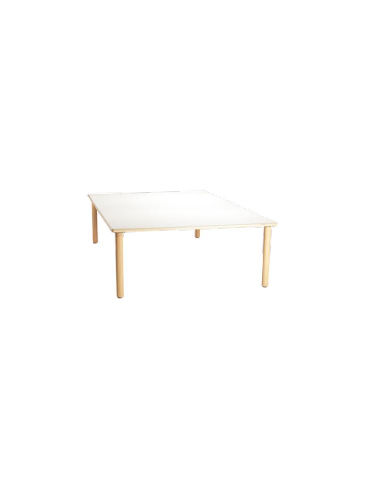 Tavolo quadrato grande piano latte in legno cm 128x128x76h - Tavolo grande legno ...
