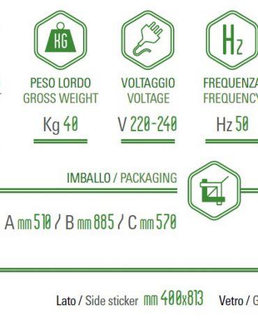 Espositore bevande con cassonetto personalizzabile cm 49x54,6x84
