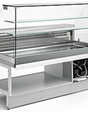 Vetrina fredda vetri alti dritti da cm. 125 - Refrigerazione ventilata