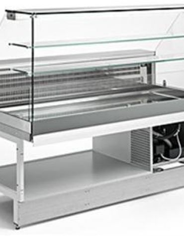 Vetrina fredda vetri alti dritti da cm. 150 - Refrigerazione ventilata