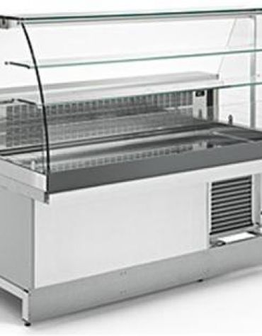 Vetrina grezza da rifinire per bar a caldo secco da cm 200