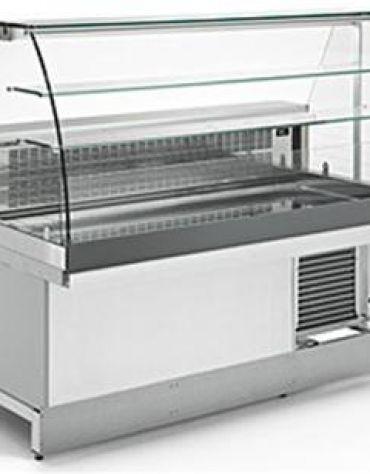 Vetrina bar snack a caldo secco da cm. 100-VETRI ALTI CURVI