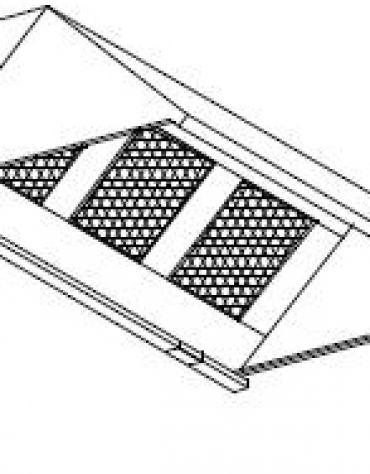 Cappa ecologica con carboni attivi a parete cm. 432x110x55h