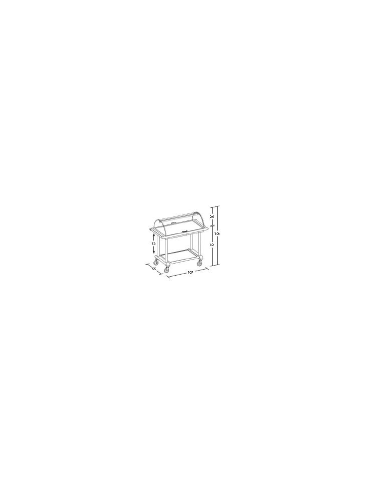 Carrello in legno 2 piani con cupola dimensioni cm for Piani di cupola pdf