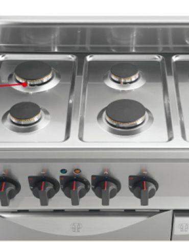 Cucina a gas da appoggio 4 fuochi BASSA POTENZA