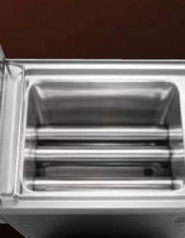 Friggitrice professionale a gas su mobile 2 Vasche da lt. 15+15 - cm 80x70x85/90h