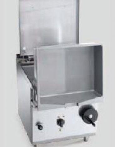 Brasiera a gas ribaltabile Lt. 120- Vasca e fondo inox AISI 304