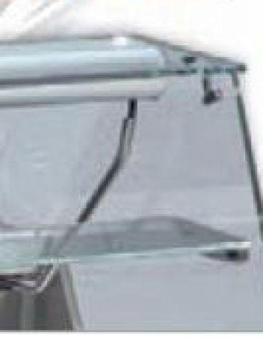 Vetrina fredda da banco vetri dritti da cm. 200