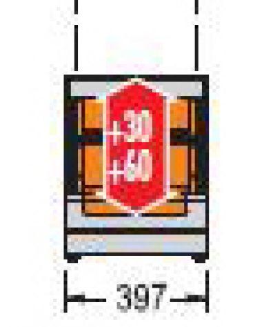 Vetrina calda da banco-Lunghezza cm. 73,7-Porta scorrevole
