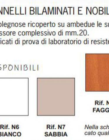 TAVOLO MENSA OTTO POSTI DOPPIA GAMBA CM. 180X80