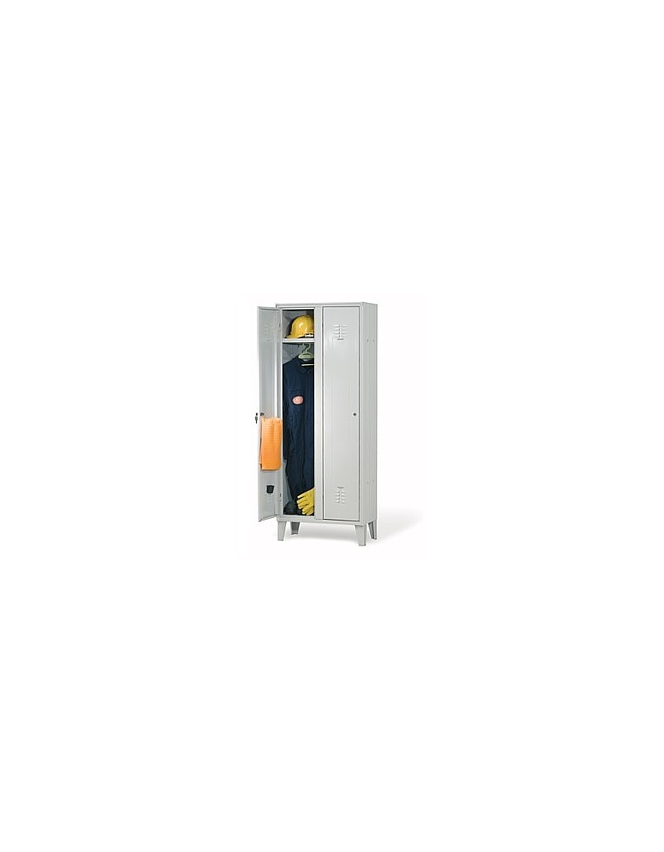 Armadio spogliatoio per dipendenti 2 posti cm 70x35x180h for Arredamento sanitario