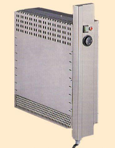 Tavolo armadiato caldo inox con alzatina cm. 200x60x85/90h