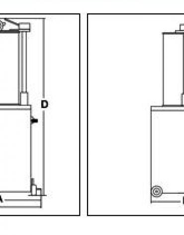 Insaccatrice idraulica verticale litri 55
