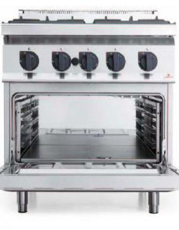 Cucina gas 4 fuochi MEDIA POTENZA forno elettrico convezione - cm 80x70x85/90h