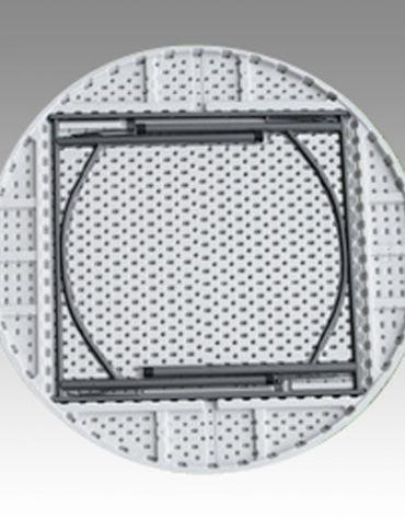 Tavolo rotondo pieghevole in polietilene Diametro cm. 183 x 74h