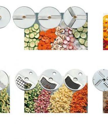 Tagliaverdura elettrico professionale in alluminio ed inox
