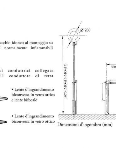 LAMPADA CON LENTE BICONVESSA E LAMPADINA FLUORESCENTE - LENTE CI