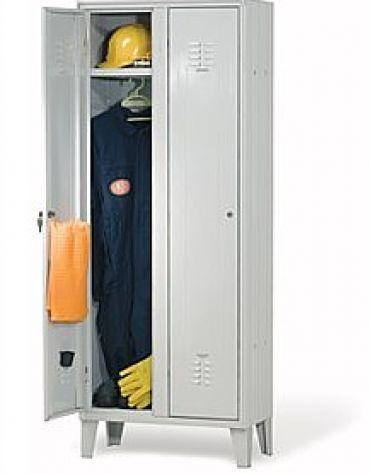 armadio spogliatoio per dipendenti 2 posti cm. 70x35x180h ... - Armadio Tradizionale Montato