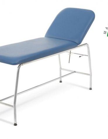 LETTINO DA VISITA MEDICA acciaio cromato rotondo - Portata 180 Kg