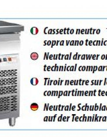 Tavolo refrigerato pasticceria ventilato con alzatina 2 porte - cm 151x80x85h