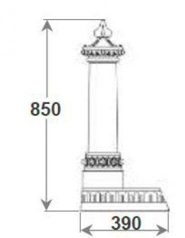 Fontana in ghisa con rubinetto cm. 35x39x85h