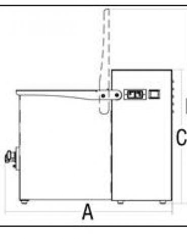 Impastatrice per carne Kg. 20 Monopala-MONOFASE