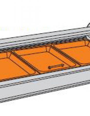 Vetrina calda da banco-Lunghezza cm. 103