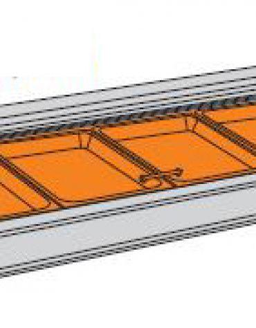 Vetrina calda da banco-Lunghezza cm. 135,5