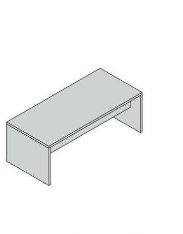 Scrivania lineare  fianco legno 180x90x74h