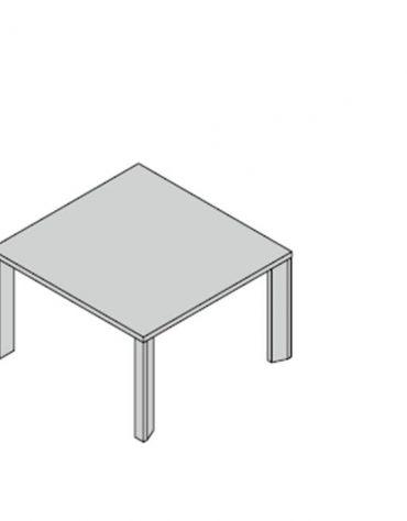 Tavolo riunioni gamba legno special 120x124x74h