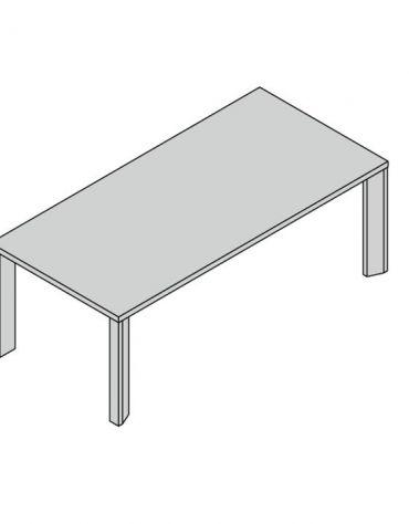 Tavolo riunioni gamba legno special 210x100x74h