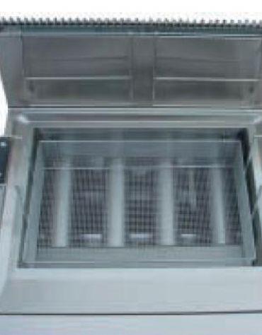 Friggitrice pasticceria a gas su mobile Litri 35/46 - cm 70x70x85h