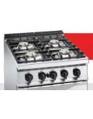 Cucina inox professionale 2 Fuochi a gas MEDIA POTENZA