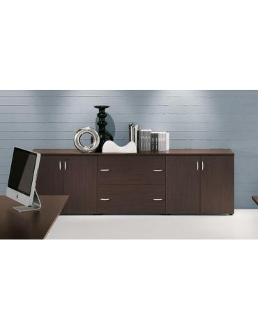 Mobili chiusi ante legno mobili contenitori per ufficio for Mobile basso da sala