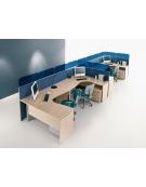 Scrivania Workstation a L da cm. 180