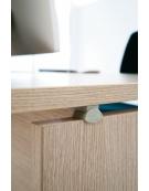 Scrivania Workstation a L da cm. 160 con cassettiera
