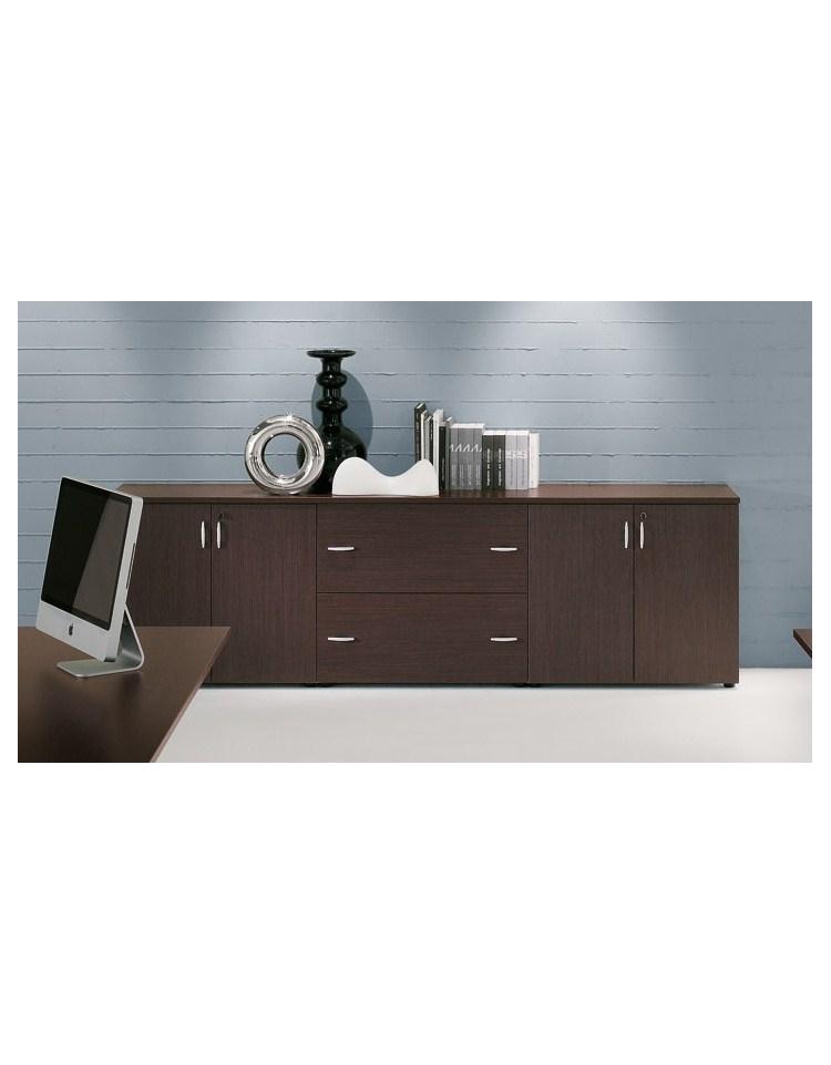 Mobile armadio basso per ufficio da cm 90 ante in legno for Mobile basso da sala