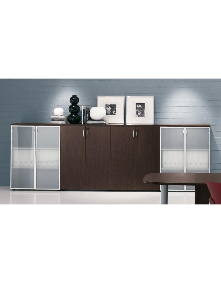 Armadio mobile ufficio medio alto da cm 90 ante legno for Mobile ufficio usato