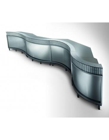 Banco bar refrigerato 3 sportelli motore interno da cm. 250
