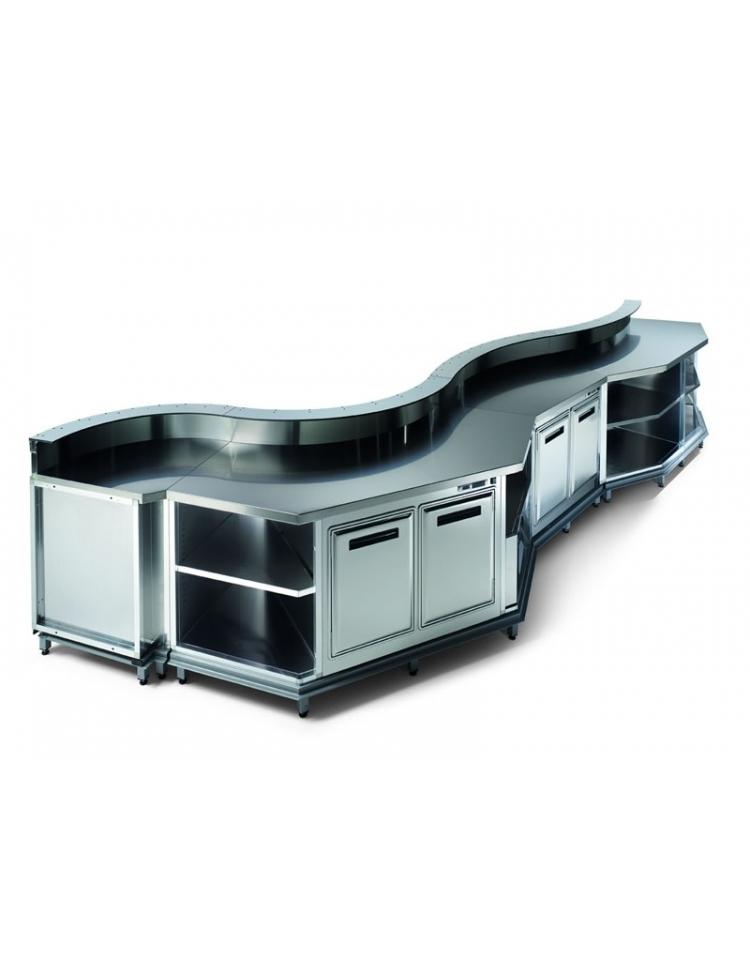 Banco bar refrigerato 6 sportelli motore esterno da cm 350 con motore remoto banchi bar - Sportelli cucina grezzi ...