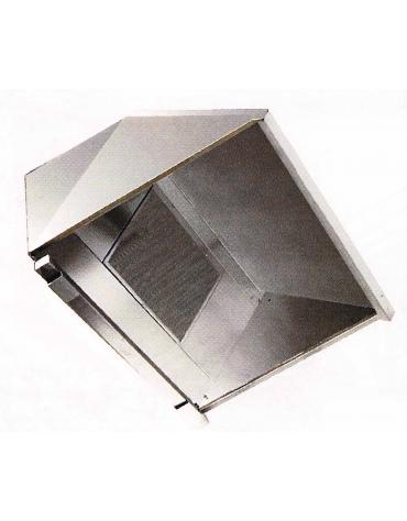 Cappa ecologica con carboni attivi a parete cm. 384x110x55h