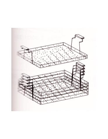 Cestelli sovrapponibili a 2 manici per friggitrice cm. 59x55x6h