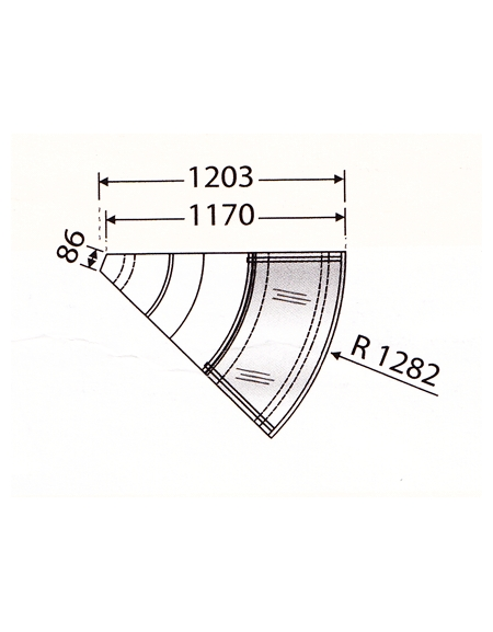 Banco ventilato VCP - Angolo 45° esterno